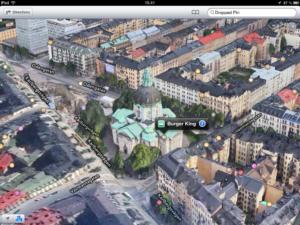 Burger King on iOS map