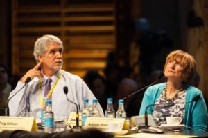 Enrique Peñalosa and Tessa Jowell MP on the panel, an urban response to climate change.