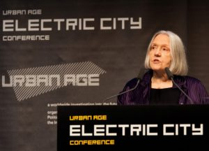 Saskia Sassen's presentation on urbanising technology.