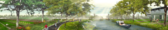 West 8, Guanghzou masterplan, 2013: river banks.