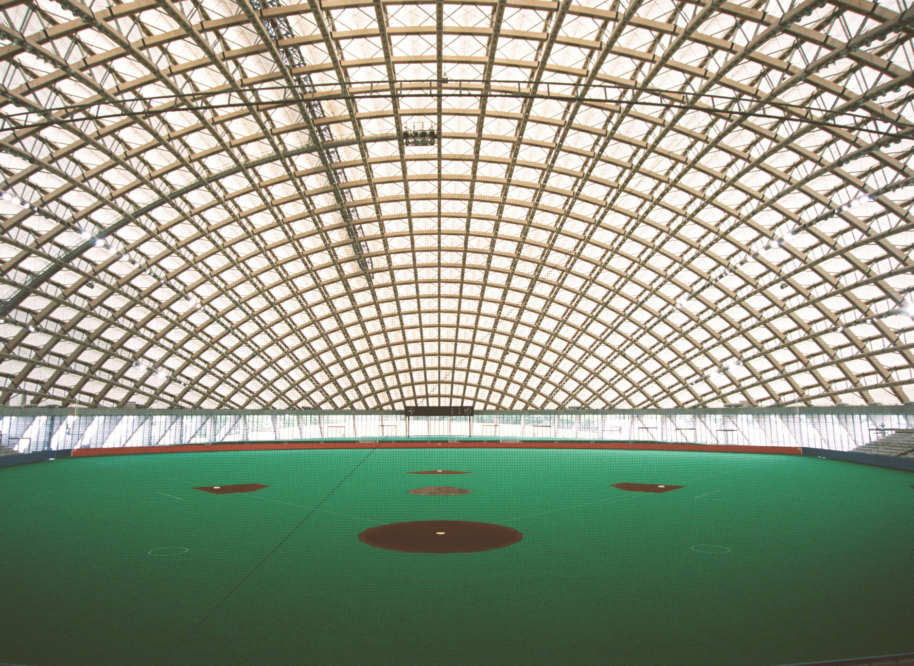 Toyo Ito & Associates Architects, Dome in Odate (multipurpose dome), 1993-7, Odate-shi, Akita, Japan. Photo: Mikio Kamaya.
