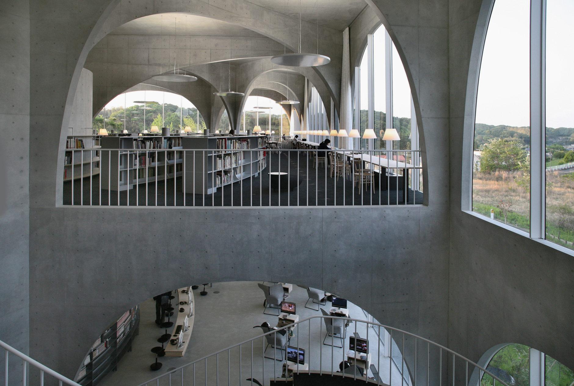 Toyo Ito & Associates Architects, Tama Art University Library (Hachiõji campus, 2004-7, Hachioji-shi, Tokyo, Japan. Photo: Tomio Ohashi.