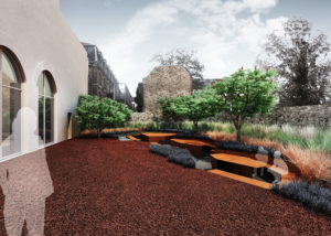 Rendering of the FRAC Centre garden which also opens on 14 September, designed by landscape architects ruedurepos. © Colin Sayetta.