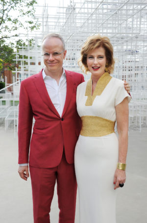 Julia Peyton-Jones (right) and Hans Ulrich Obrist (left), Co-Directors of the Serpentine Gallery, © 2013 Dave Benett.