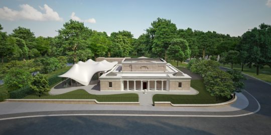 The new Serpentine Sackler Gallery, Kensington Gardens, a conversion of a 19th century building with an extension by Zaha Hadid Architects © Zaha Hadid Architects