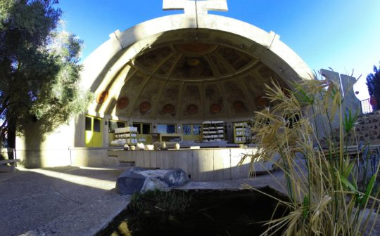 Arcosanti Foundation, view of the pottery workshop, Arizona. © BIO Urban Design LAB – UCL.