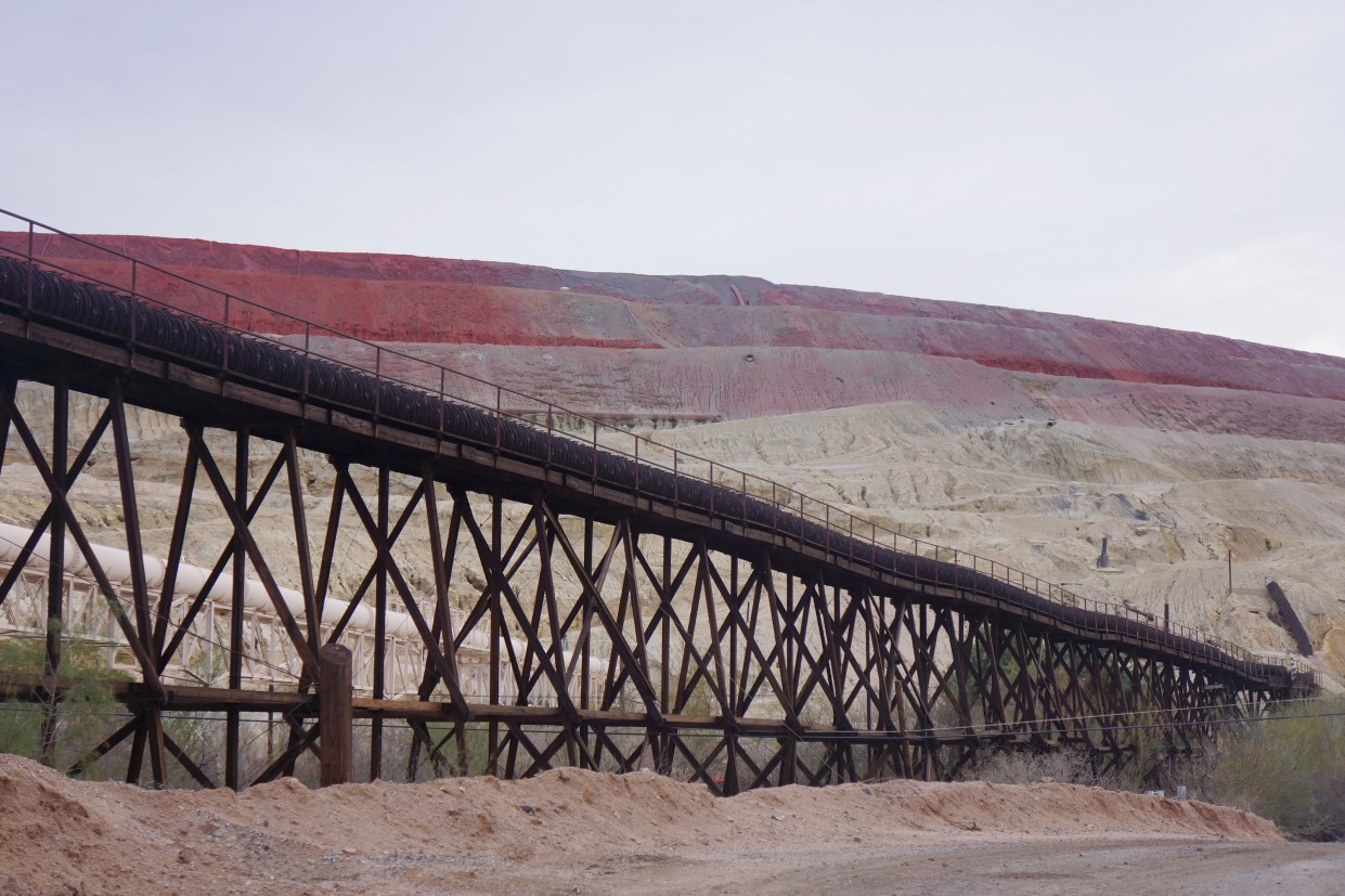 Abandoned mining infrastructure in the Copper Corridor, Arizona. © BIO Urban Design LAB – UCL.