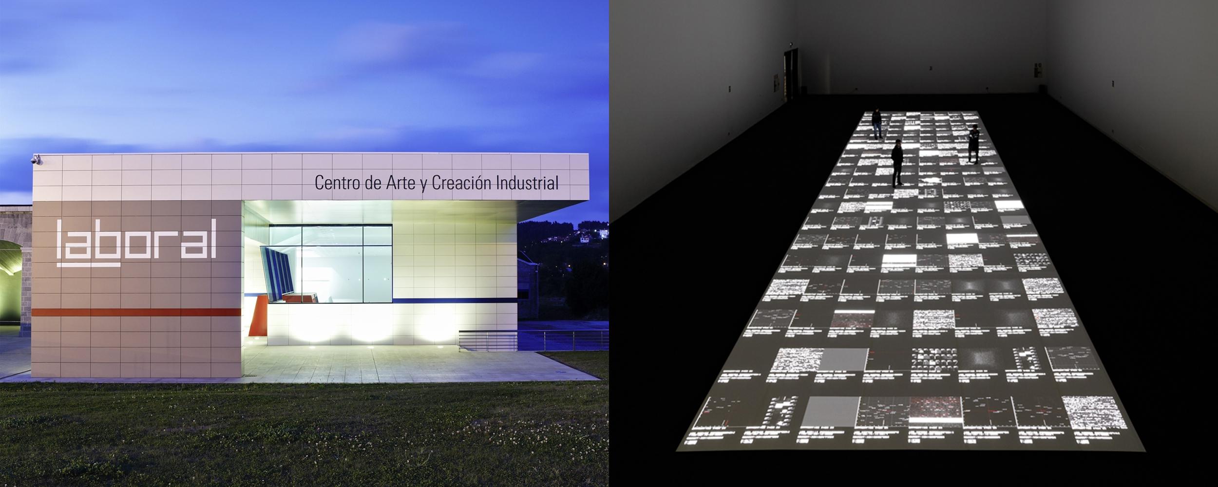 Facade of LABoral, Gíjon, © Marcos Morilla. An exhibition space at LABoral, Gíjon, © Marcos Morilla.