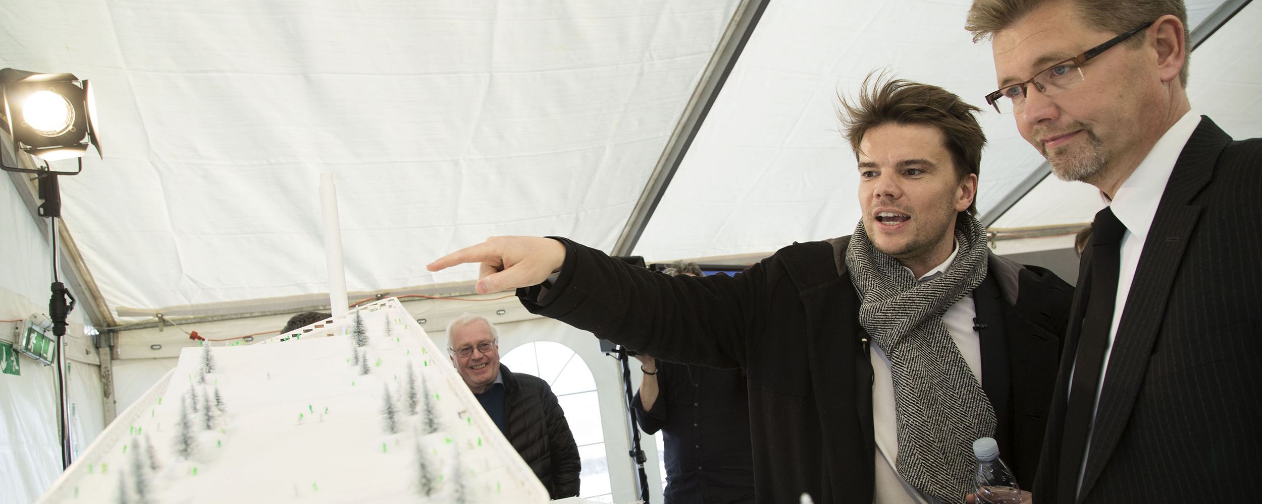 Bjarke Ingels, founder of BIG with Frank Jensen, Lord Mayor of Copenhagen. Photo: Christoffer Regild.