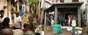 Street in Sai Vihar, Bhandup, Mumbai, © URBZ. Sai Baba Temple construction, Bhandup, Mumbai, © URBZ.