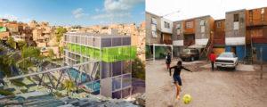 Urban-Think Tank, Centro de Acçao Social por Música, Grotão, Paraisópolis, São Paulo, Brazil. © Urban-Think Tank. Elemental, Quinta Monroy, Iquique, Chile, 2004, © Cristobal Palma.