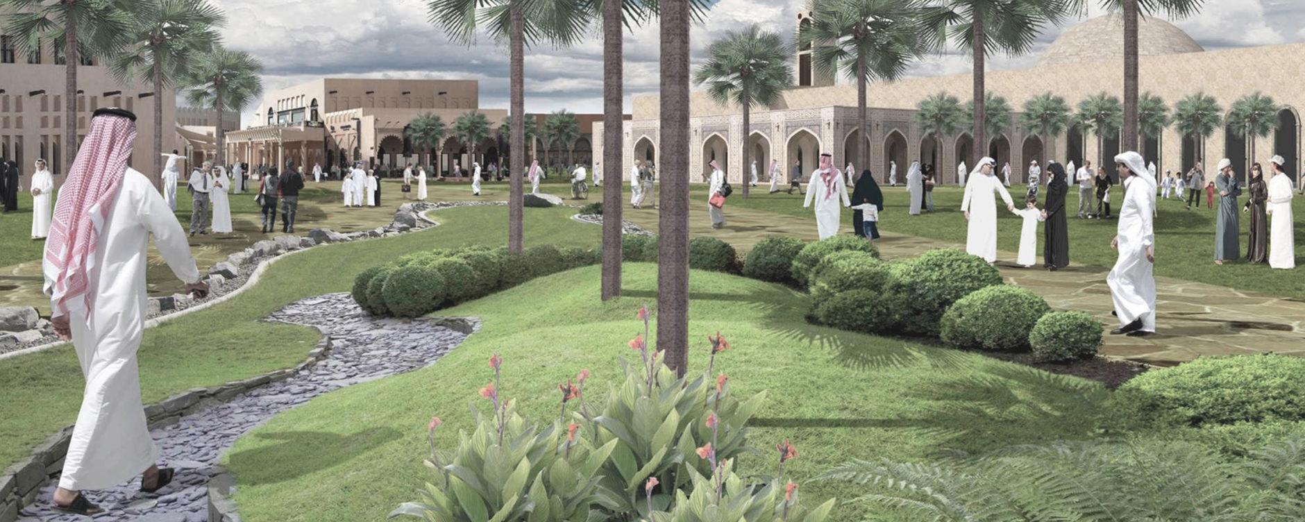 Doha Green belt scenarios, Albandari Alharami, Heba AlGuhani, Hessa Al Hajri, Maryam Abbara, Qatar University. © Qatar University.