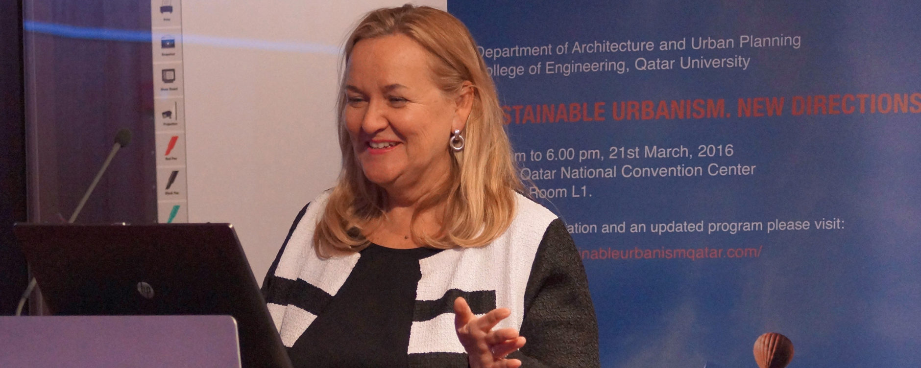 Patricia McCarney, Sustainable Urbanism New Directions Workshop, Qatar University, 21 March 2016, © Qatar University.