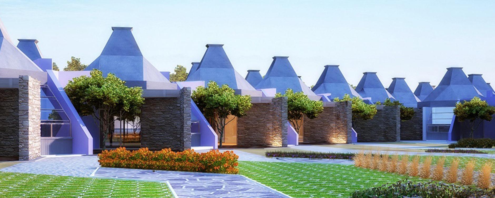 View of pavilions. © Ibrahim Karim.