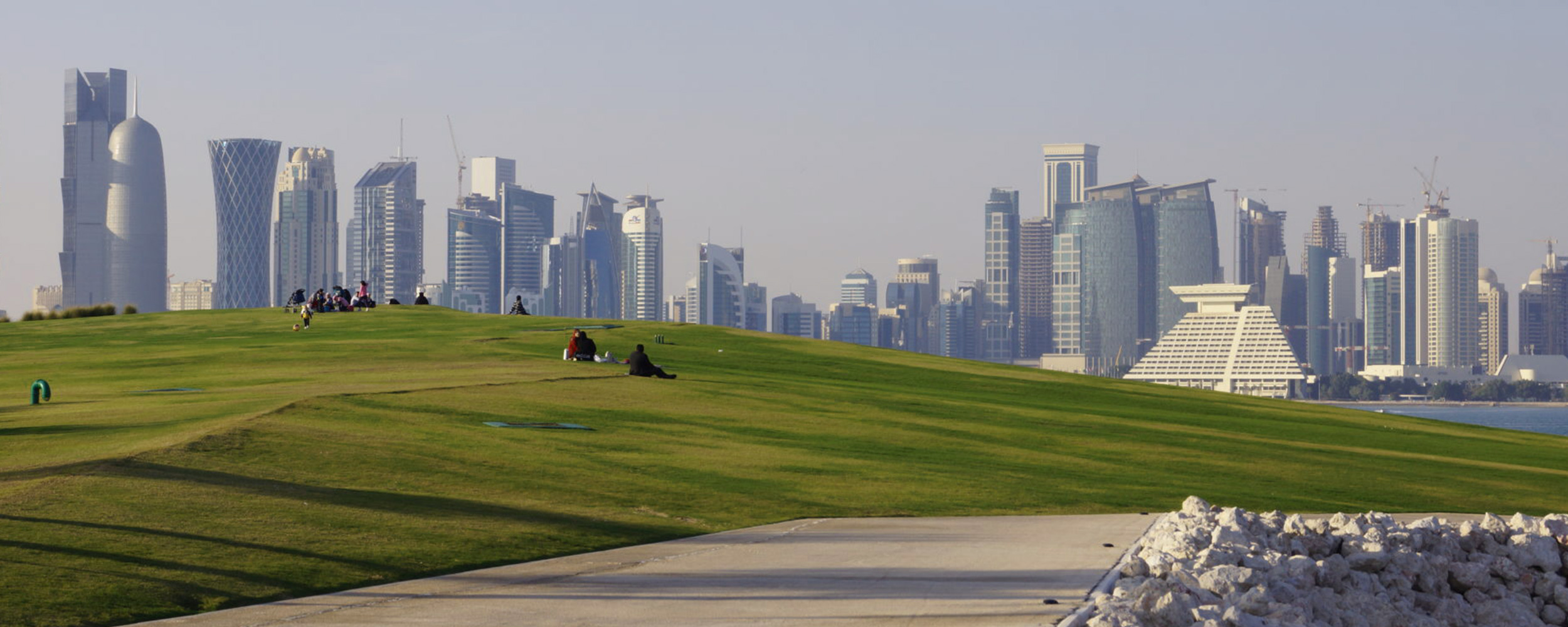 Waterfront public spaces, Doha. © Anna Grichting