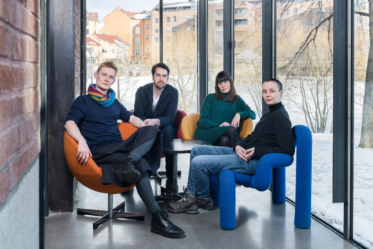 The OAT 2019 curatorial team (l-r): Phineas Harper, Matthew Dalziel, Cecilie Sachs Olsen and Maria Smith. © OAT.