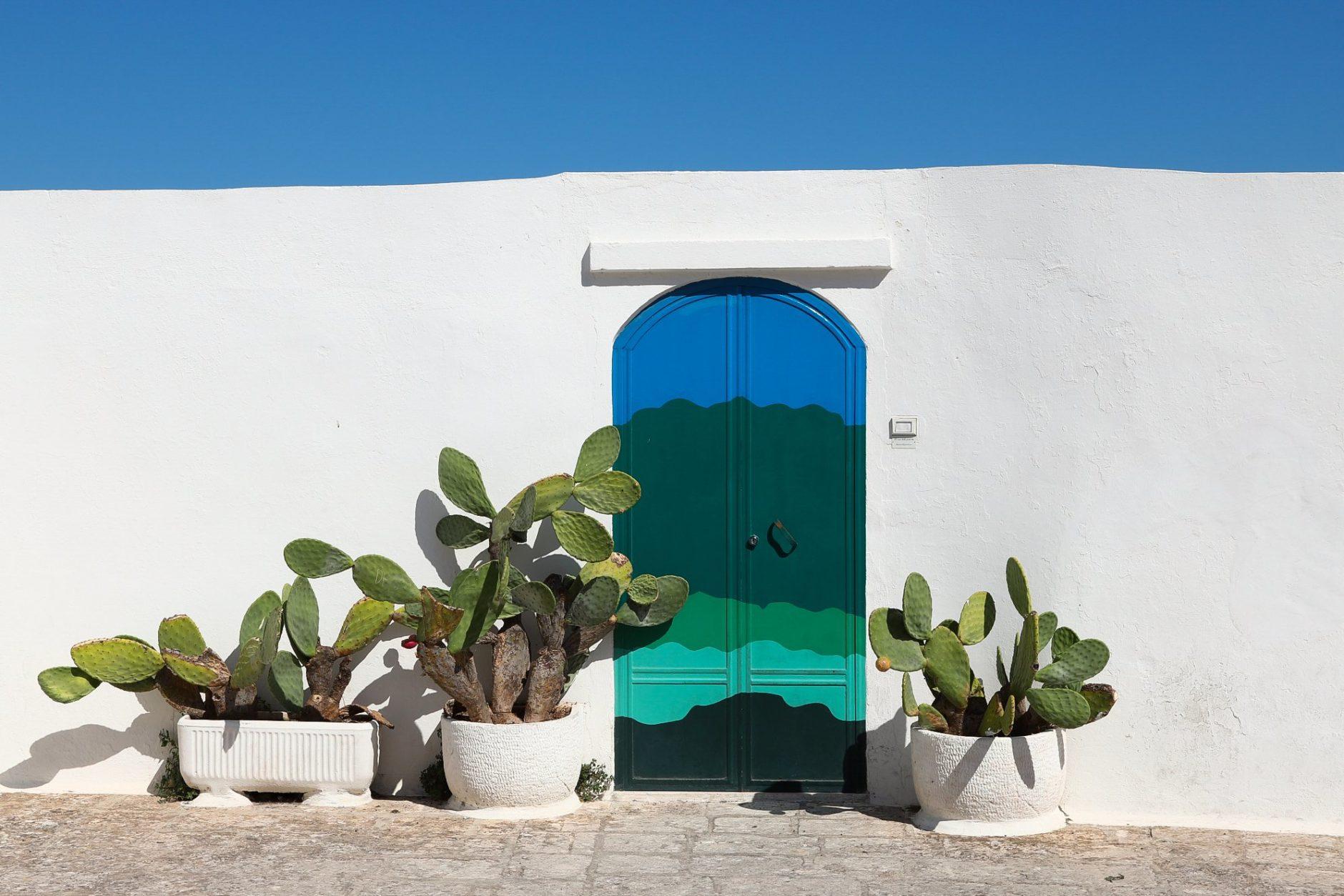 Painted Ostuni doorway.