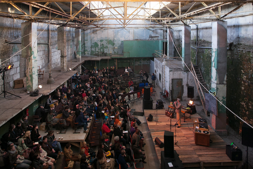 Totaldobže arts centre in the VEF district, hosting electro-acoustic music and sound installation.