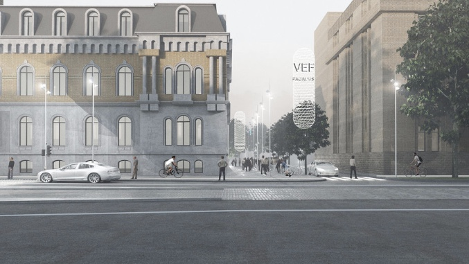 VEF/Vefresh innovation district, Riga, Latvia. Spatial concept by Eter.